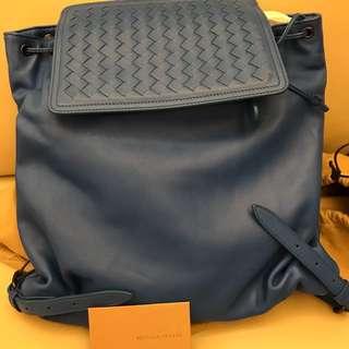 Bottega Veneta women's leather woven backpack