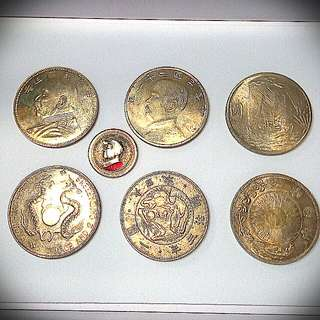 6 Old Silver Coins.