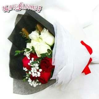 Valentine Bouquet Anniversary Fresh Flowers V59 - EQWEX     5