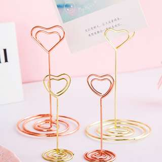 Gold Heart Shape Note Clip