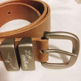 RM Williams tan leather belt