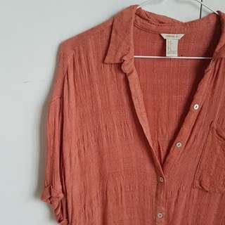Forever21 Burnt Orange Shirt