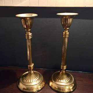 Antique English Candle Stands