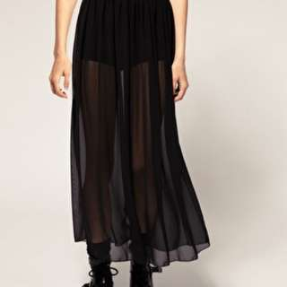 American Apparel Black Shear Maxi- M/L