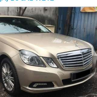Super Condition E200 Merc Rent for Chinese New Year
