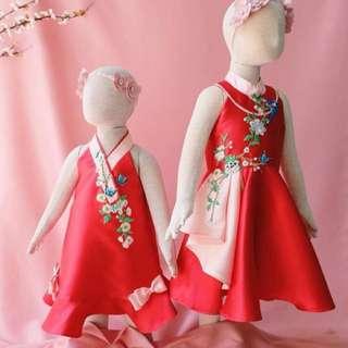 Girl Dress - Chinese New Year Lulu & Ruru Dress