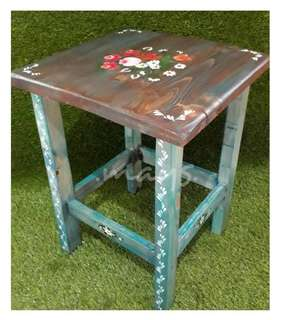 Handmade Coffee Table Painting Tanned Meja Kopi / Sisi