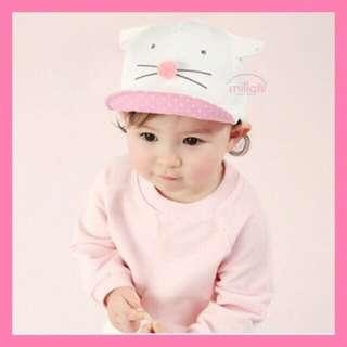 Topi kucing baby girl