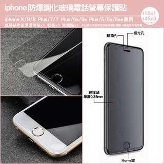 iphone防爆鋼化玻璃電話螢幕保護貼