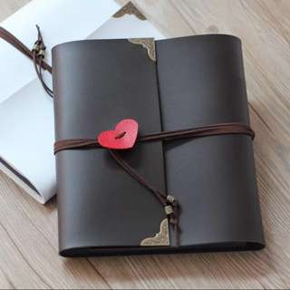 DIY Couple Scrapbook (Leather)