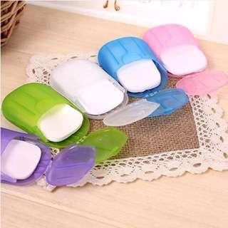 ✈️Travel Portable Anti Bacterial Paper Soap w/ Storage✈️
