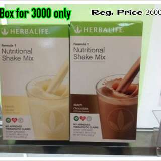 Herbalife Nutritional Weightloss Shake Box
