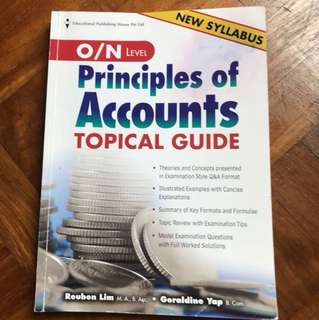Principles of Accounts topical guide