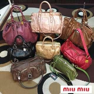 Authentic Miu miu handbags