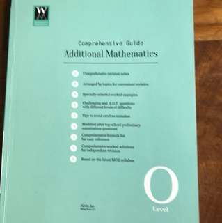 Comprehensive Guide additional mathematics o level