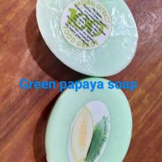 Green papaya pure organic soap no chemicals