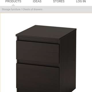 Ikea bed frame + chest of drawers