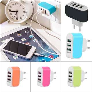 📱3.1A Triple USB Port Wall Home Travel AC Charger Adapter📱