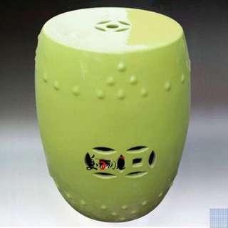Ceramic stool - green series