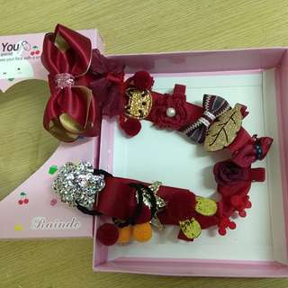 BN Korean Fashion Girl Hair Accessories Hair Clip 16pcs Gift Box Set