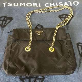 Prada vintage nylon chain bag