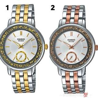 Original Casio Sprinkled Bezel Two-Toned Stainless Watch
