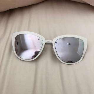 Quay white sunglasses