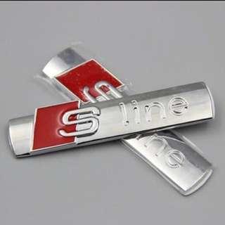 Sline Emblem for Audi (3rd party)