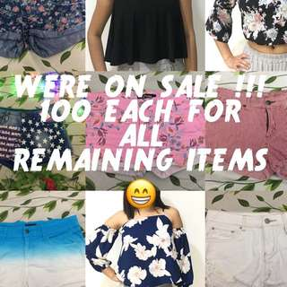 100 EACH FOR ALL REMAINING ITEMS