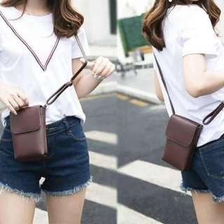 韓版手機包零錢包迷你包側肩包