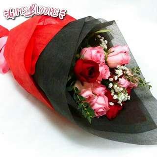 Valentine Bouquet Anniversary Fresh Flowers V64 - ZDWJJ     28