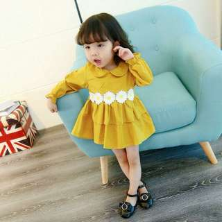 [READY STOCK]  🌸 Long Sleeves Daisy Dress