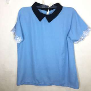 Blue coral top