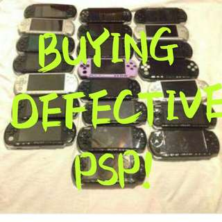 BUYING DEFECTIVE PSP!