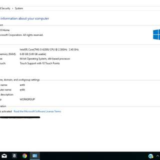 hp laptop core i5- 6th