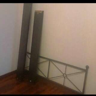 Ikea MUSKEN queen sized bed frame only (mattress is not included)