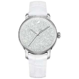 【沒有現貨 - 信用卡優惠代購】Swarovski CRYSTALLINE HOURS 手錶, 白色 (#5295383)