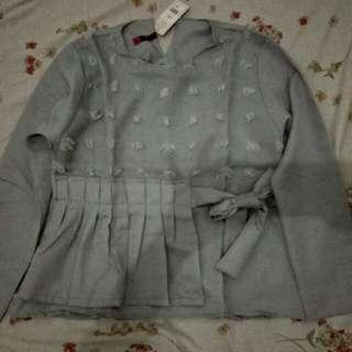 New-Baju jalan jalan atau pesta grey / seragaman