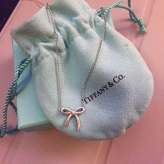 Tiffany &co sterling silver ribbon necklace
