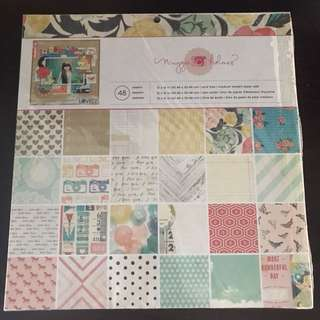 New Maggie Holmes 48 Scrapbook Craft Papers