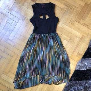 Cut-out flowy dress