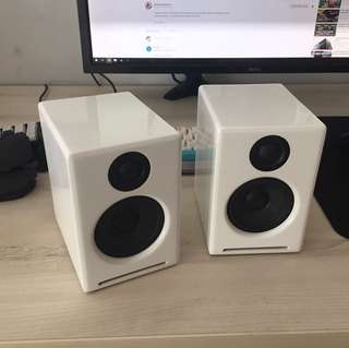 Audioengine A2+ and stands