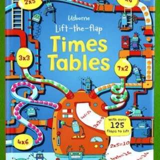 Usborne Lift-the-Flap Time Tables