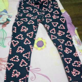 Heart design fitted pants