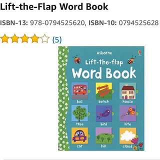 Usborne Lift-the-Flap Word Book