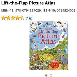 🚚 Usborne Lift-the-Flap Picture Atlas