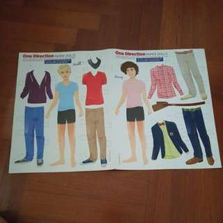 Niall & Harry one direction paper dolls