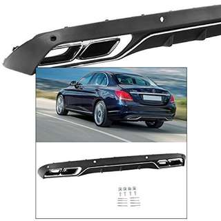 Mercedes C-Class W205 Avantgarde covert rear diffuser to AMG quad exhaust.