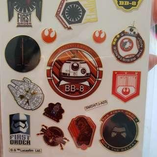 Star Wars Gold Trim Stickers