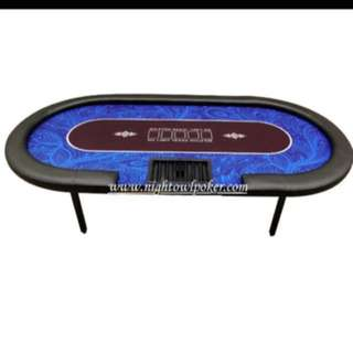 Tournament poker table and chips brand new